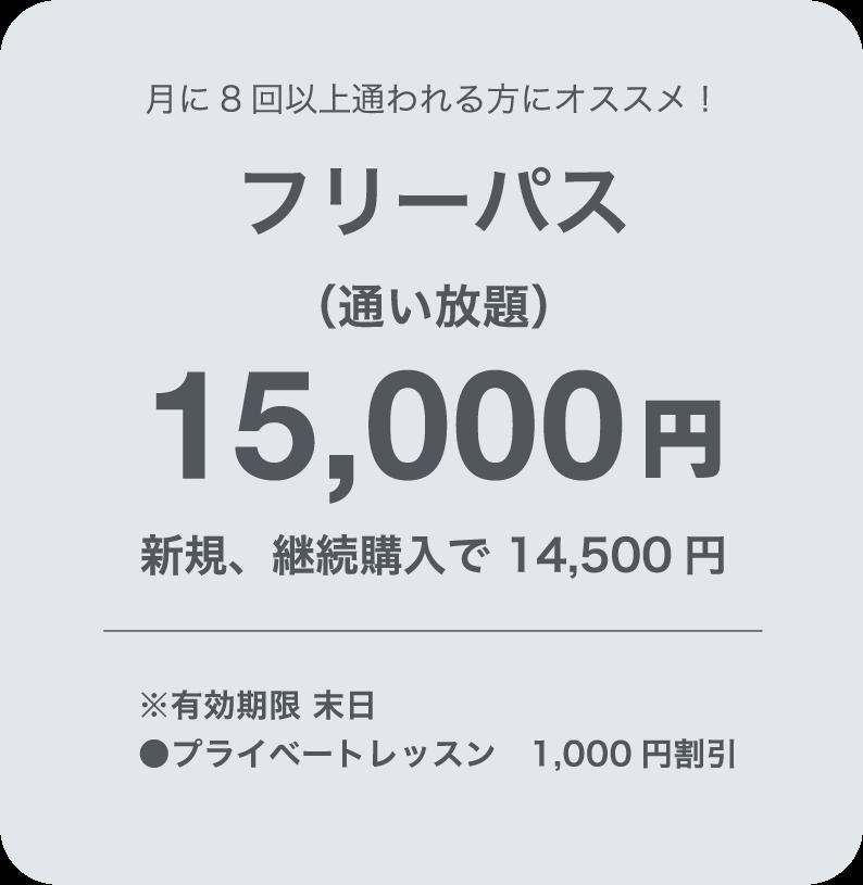 フリーパス14,000円