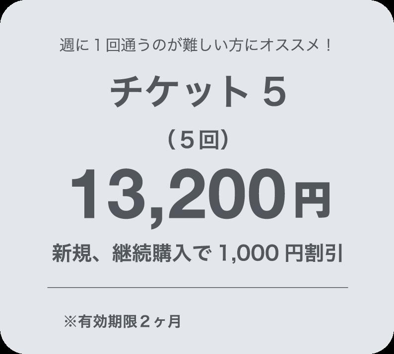 チケット5 12,000円