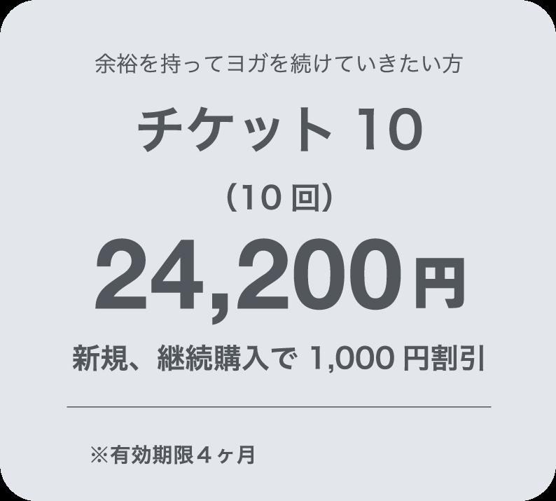 チケット10 22,000円